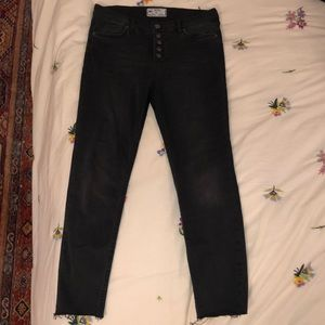 Black Free People button fly jeans